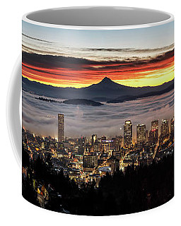 Portland Foggy Sunrise Coffee Mug