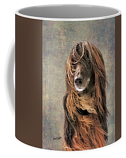 Portrait Of An Afghan Hound Coffee Mug