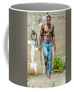 Portrait Of  Young Black Fitness Guy Coffee Mug