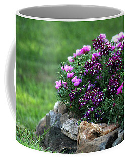 Coffee Mug featuring the photograph Pretty In Pink And Purple by Trina Ansel