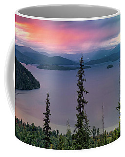 Coffee Mug featuring the photograph Priest Lake Sunset View by Leland D Howard