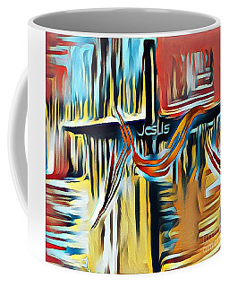 Coffee Mug featuring the mixed media Primary Colors by Jessica Eli