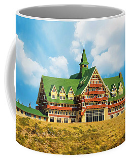 Coffee Mug featuring the photograph Prince Of Wales Hotel Is Elegant Grand And Haunted by Ola Allen
