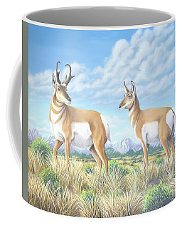 Pronghorn By The Tetons Coffee Mug
