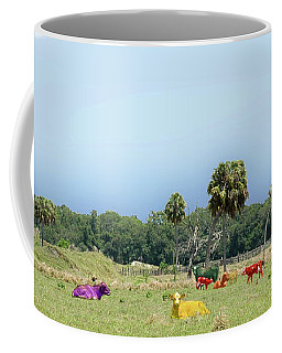Psychedelic Cows Coffee Mug