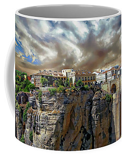 Coffee Mug featuring the photograph Puente Nuevo Bridge by Anthony Dezenzio