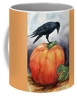 Pumpkin And Crow Coffee Mug