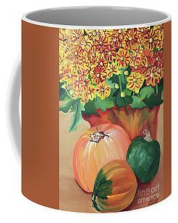 Pumpkin With Flowers Coffee Mug