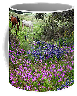 Bluebonnets And Pure Texas  Coffee Mug