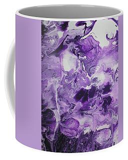 Purple Chaos Abstract 1  Coffee Mug