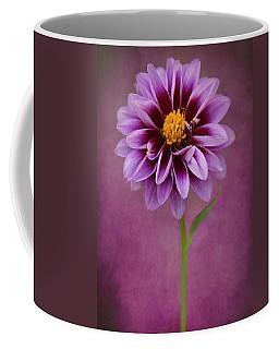 Coffee Mug featuring the photograph Purple Dahlia by John Rodrigues