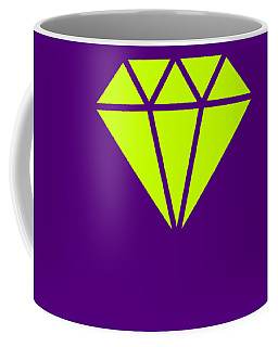 Purple Diamond Yellow Coffee Mug