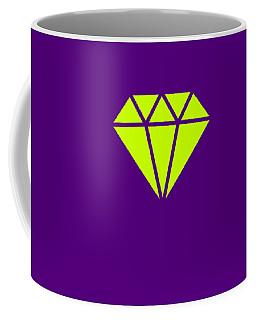 Purple Diamond Yellow Coffee Mug