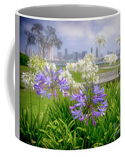 Purple Flowers In San Diego Coffee Mug