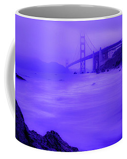 Coffee Mug featuring the photograph Purple Golden Gate Fog by Mike Long