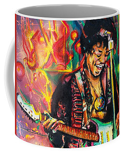 Coffee Mug featuring the painting Purple Haze by Eric Dee