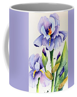 Purple Iris And Buds Coffee Mug