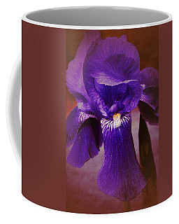 Purple Iris Portrait Coffee Mug