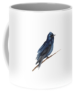 Purple Martin Watercolor Poster Colorful Bird Coffee Mug