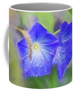 Purple Morning Glories In The Rain. Coffee Mug