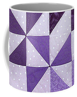 Purple Pinwheels Pirouetting Coffee Mug