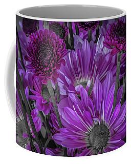 Purple Power Chrysanthemum  Coffee Mug