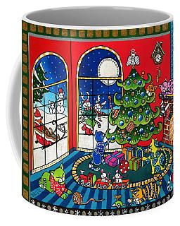 Purrfect Christmas Cat Painting Coffee Mug