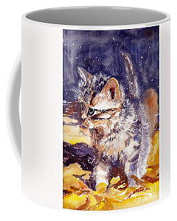 Pussy On A Yellow Blanket Coffee Mug