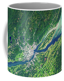 Quebec City From Space Coffee Mug