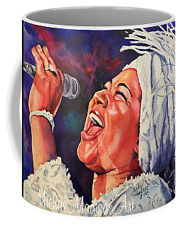 Coffee Mug featuring the painting Queen Of Soul by Michal Madison