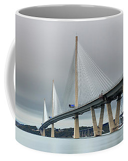 Coffee Mug featuring the photograph Queensferry Crossing Bridge 3-1 by Grant Glendinning