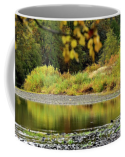 Coffee Mug featuring the photograph Quiet Illinois River Autumn by Jerry Sodorff