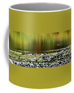 Coffee Mug featuring the photograph Quiet Illinois River Autumn Reflections by Jerry Sodorff