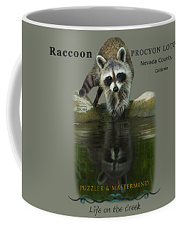 Raccoon Puzzler And Mastermind Coffee Mug