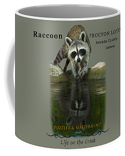Raccoon Puzzler And Mastermind Coffee Mug