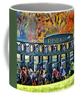 Fall Racing At Keeneland  Coffee Mug