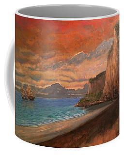 Coffee Mug featuring the painting Railay Beach, Krabi Thailand by Tom Roderick