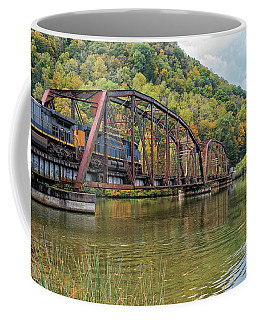 Railroad Trestle At Hawks Nest State Park In West Virginia Coffee Mug