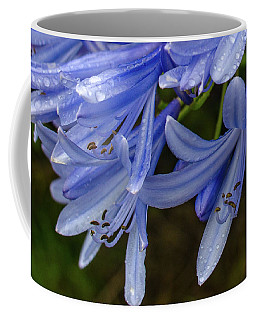 Rain Drops On Blue Flower Coffee Mug
