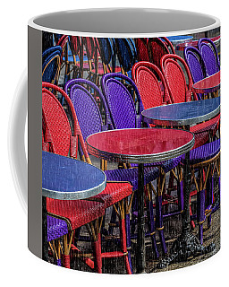 Rain On Paris Tables Coffee Mug