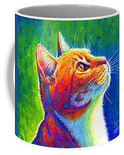 Rainbow Cat Portrait Coffee Mug
