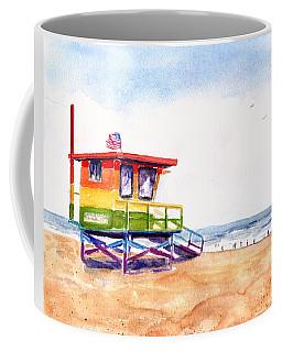 Rainbow Lifeguard Tower Coffee Mug