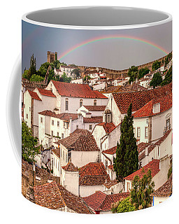 Rainbow Over Castle Coffee Mug