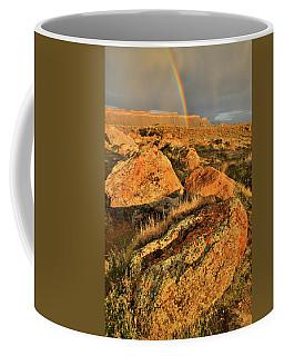 Rainbow Over The Book Cliffs Coffee Mug