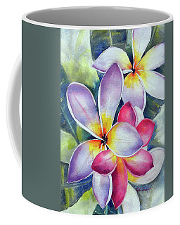 Rainbow Plumerias Coffee Mug
