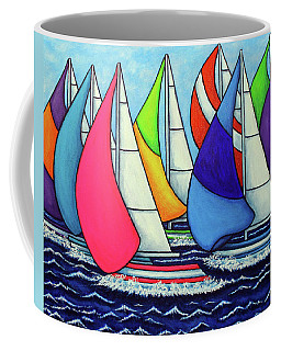 Rainbow Racing Regatta Coffee Mug