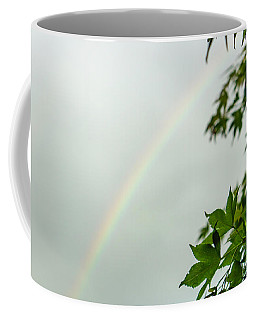 Rainbow With Leaves In Foreground Coffee Mug