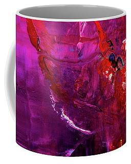 Rainy Day Woman - Purple And Red Large Abstract Art Painting Coffee Mug