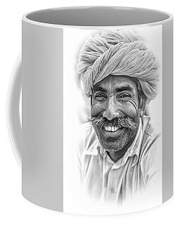 Rajput High School Teacher - Portrait Bw Coffee Mug