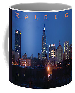 Raleigh Skyline Night Photo 16 X 20 Ratio Coffee Mug